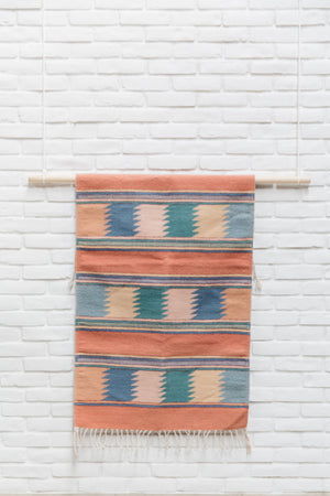 The Rosado: Pastel Handwoven South American Geometric Rug