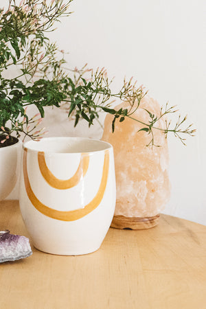 Ochre Arc Rainbow Ceramic Pot
