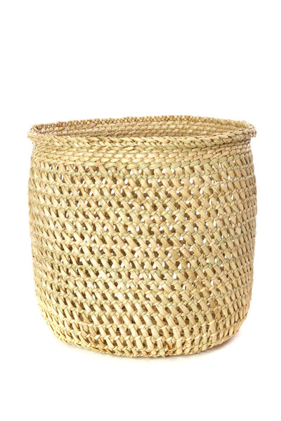 African Natural Handmade Open Weave Basket