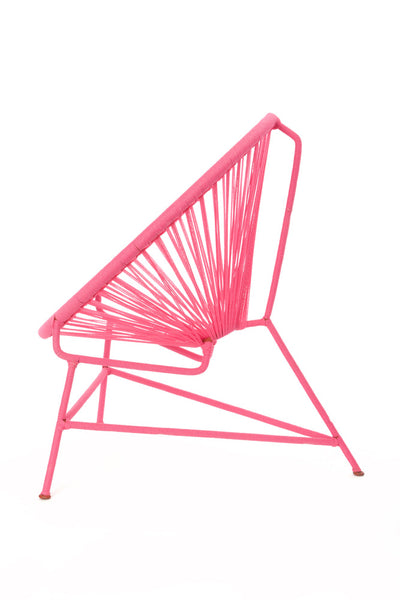 African Handmade Bright Pink Children's Acapulco Style Chair