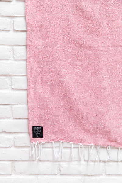 ROSE QUARTZ: PASTEL PINK SOLID MEXICAN BLANKET
