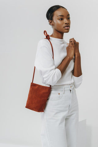 Rust Suede Cross Body Purse