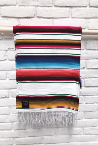LIMITED EDITION // White Mexican Serape Blanket - Two Available