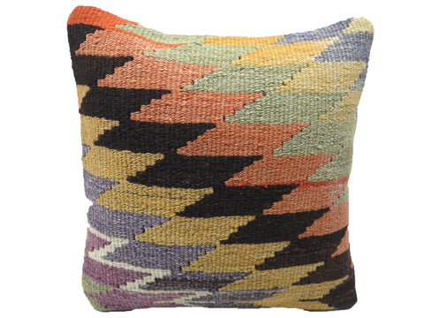 Vintage Zig Zag Turkish Kilim Pillow