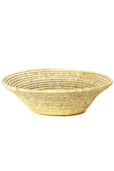 African Handmade Large Star Grass & Papyrus Table Basket