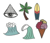 Totally Beachin Temporary Tattoos