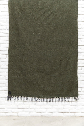 The Trestle: Army Green Solid Mexican Blanket