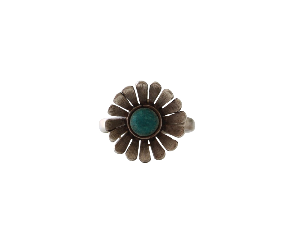 Vintage Native American Flower Ring