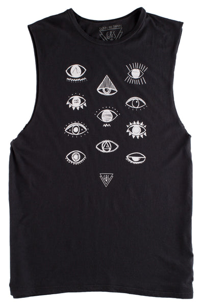 Vision Division Evil Eye Muscle Tee - Size Large Only
