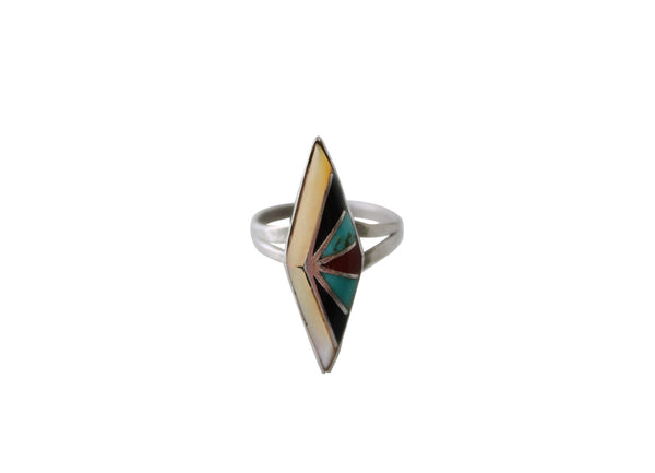 Vintage Zuni Native American Multi-Stone Inlay Ring