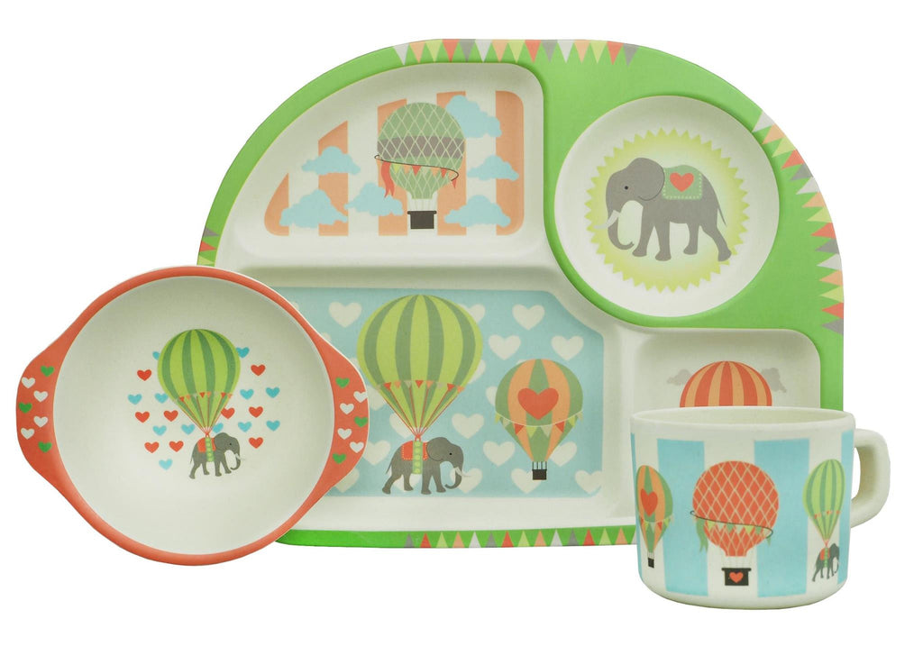 Kids Dining Set Hot Air Balloons