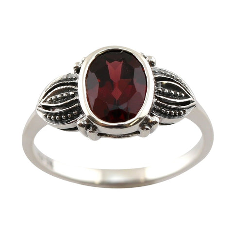 Bague art deco grenat paris