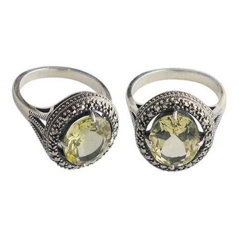 bague en quartz lemon la metrop
