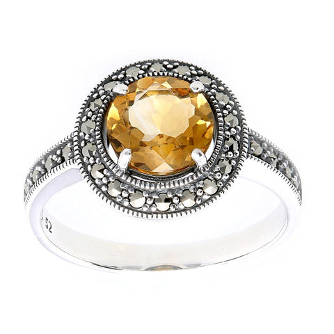 bague art deco en citrine