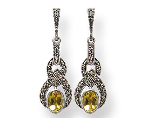 Boucles d'oreille Bonnie Citrine