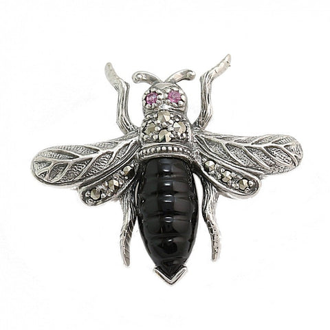 Broche Abeille Onyx