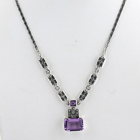 collier style ancien amethyste
