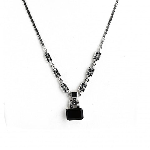 collier onyx noir art deco