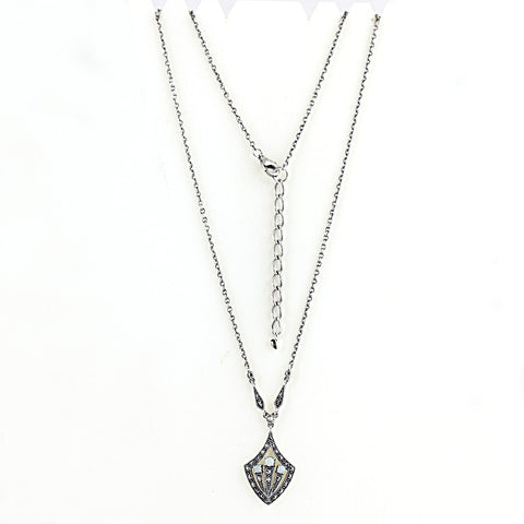 collier opales art deco