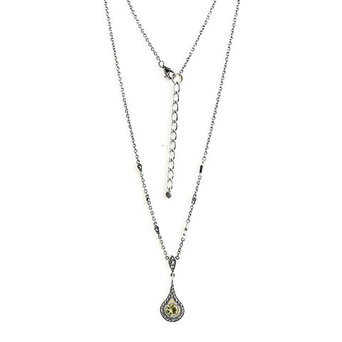 collier quartz lemon art deco