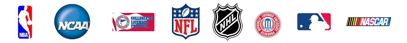 NFL,NHL,MLB,NBA,NCAA and Military