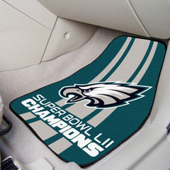Philadelphia Eagles Super Bowl LII Champions 2pc Carpeted Cat Mat Set