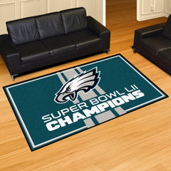 Philadelphia Eagles Super Bowl LII Champions 5x8 Rug
