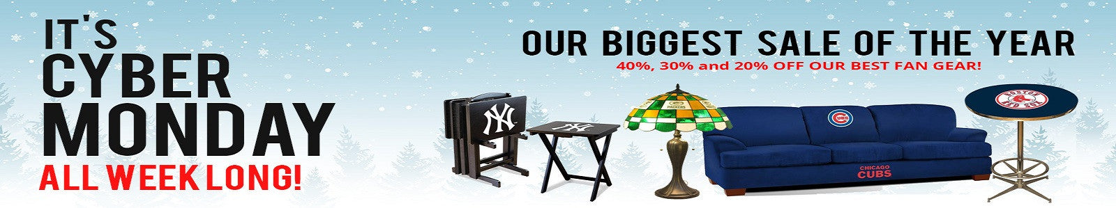 Complete your man cave with licensed sports gear for your home, car or office!