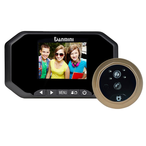 Buy Online  Danmini YB-30AHD-M 3.0 inch Screen 2.0MP Security Camera Disturb Peephole Viewer, Support TF Card / Night Vision / PIR Motion Detection / Video Recording(Black) Security & Locks - MEGA Discount Online Store Ghana