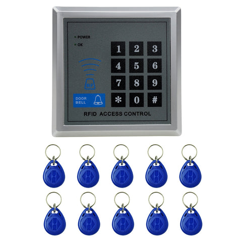 Buy Online  X1 RFID Single Door Access Control System with Keypad & 10 ID Card Token Keyfobs, Support Password & EM Card Reade Security & Locks - MEGA Discount Online Store Ghana