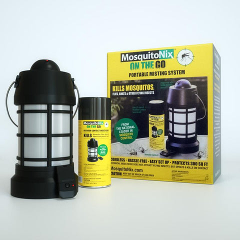 MosquitoNix Portable Misting System (1 Spray Cartridge Included)