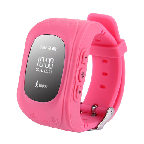 GPS Tracker Smart Watch for Kids, Support SIM Card / SOS Call /Remote  Monitor / Pedometer(Pink)