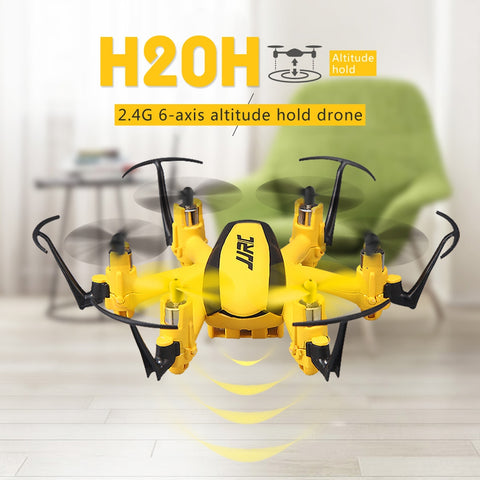 JJR/C H20H 6-axis Gyro Mini Drone Altitude Mode Headless One Key Return 2.4GHz Radio Control Quadcopter(Yellow)