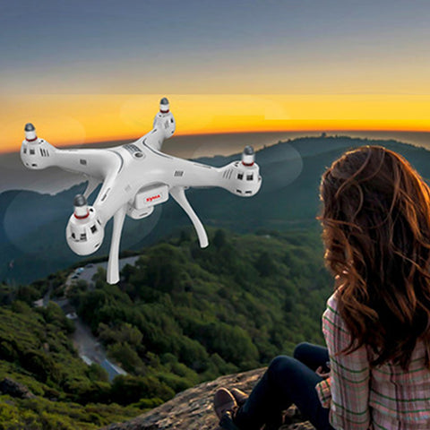 Buy Online  SYMA X8 Pro GPS Drone 720P FPV WiFi Camera 4-CH 2.4GHz RC Quadcopter with Remote Control & LED Light, Hovering Mode, Headless Mode(White) Drones - MEGA Discount Online Store Ghana
