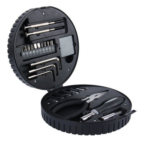 Buy Online  24 PCS Car Tire Shape Package Automobile Motorcycle Tool Box Set Socket Wrench Sleeve Suit Hardware Auto Car Repair Tools Socket Wrenches for Precise Repair or Maintenance Car Accessories - MEGA Discount Online Store Ghana