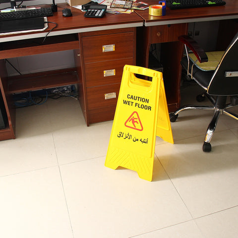 Buy Online  Caution Wet Floor Sign Cleaning Slippery Warning Both Side Safety Hazard Warning Frame Security & Locks - MEGA Discount Online Store Ghana