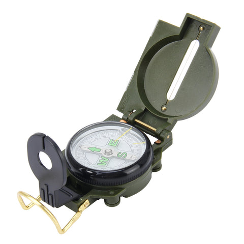 Outdoor Camping Hiking Emergency Portable Metal Case Compass