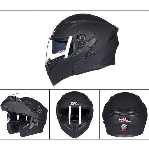 Motorcycle ABS Shell Anti-fog Double-len Inner Sun Visor Safety Helmet Car Accessories - MEGA Discount Online Store Ghana