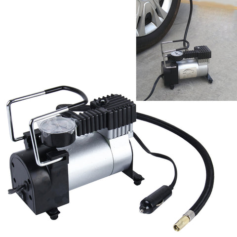 Buy Online  Air Compressor with Pressure Gauge And Three Nozzle Adapters, Portable Metal Cylinder Tire Inflator Compressor for Cars Vans Air Mattress Balls 150 PSI 35L/min Maximum Voltage DC 12V Maximum Amperage Draw 14A Car Accessories - MEGA Discount Online Store Ghana