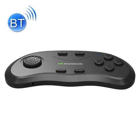 VR Shinecon 3D Movie Games Virtual Reality Glasses Bluetooth Remote Controller Gamepad(Black)