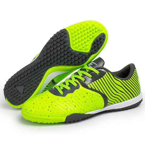 Zhenzu Outdoor Sporting Professional Training 3D Stereoscopic Print Antislip Football Shoes,(Green)
