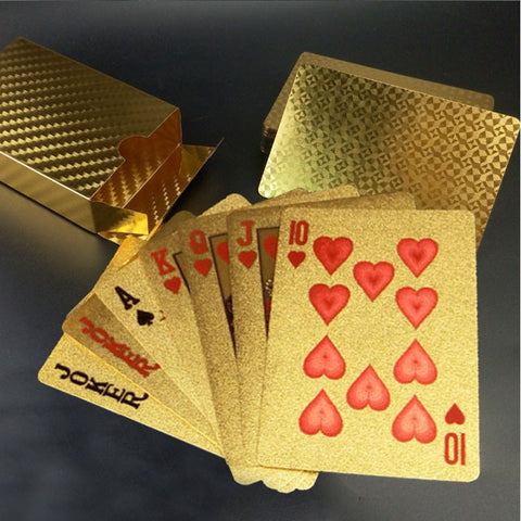 Buy Online  Creative Frosted Golden Tattice Back Texture Plastic From Vegas to Macau Playing Cards Texas Poker Smokers Inn - MEGA Discount Online Store Ghana