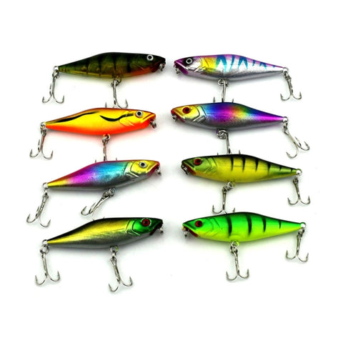 HENGJIA Artificial Fishing Lures Popper Bionic Fishing Bait with Hooks, Length: 7.5 cm, Random Color Delivery