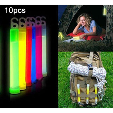 10 PCS Survival Emergency Signal Chemical Light Up Glow Sticks Camping Outdoor Tools, Size:15*1.5cm, Random Color Delivery