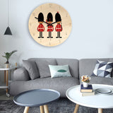 American Soldiers Pattern Home Office Bedroom Decoration Wooden Mute Wall Clock, Size : 28cm