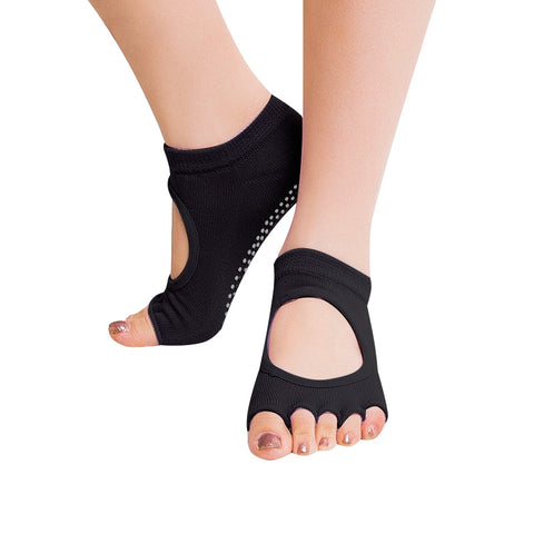 Buy Online  One Pair Open Toe Open Instep Anti-slip Sports Female Yoga Socks, Size: 34 - 39 (EUR)(Black) Sports - MEGA Discount Online Store Ghana