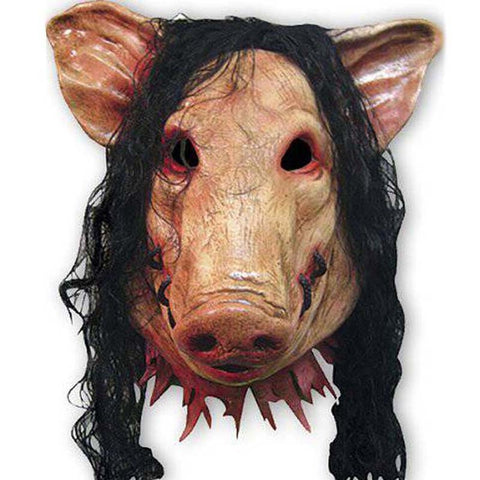 Buy Online  Halloween Mask Latex Pig Head Cap Halloween Festival Party Fancy Pig Face Masquerade Masks with Hair Masks & Gloves - MEGA Discount Online Store Ghana