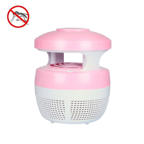 5W 6 LEDs No Radiation Mute Photocatalytic 7-blade Fan USB Mosquito Killer Lamp(Pink)