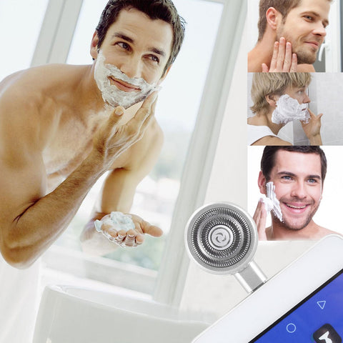 HCB0121S ENKAY Hat-prince Mini Micro USB Portable Men Razor Electric Shavers for Android Phone(Silver)