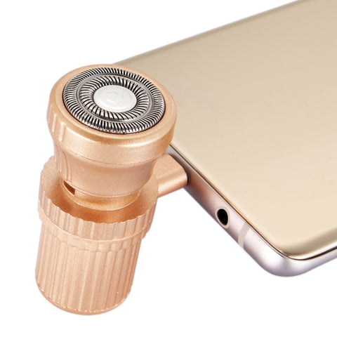 Buy Online  ENKAY Hat-prince Mini Type-C USB Portable Men Razor Electric Smart Phone Shavers (Gold) Shavers & Grooming - MEGA Discount Online Store Ghana